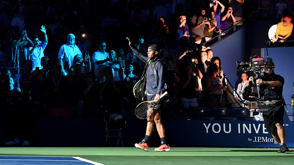 August 27, 2018 - Rafael Nadal enters Arthur Ashe Stadium during the 2018 US Open.