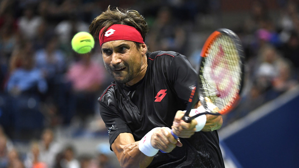 August 27, 2018 - David Ferrer in action against Rafael Nadal during the 2018 US Open.