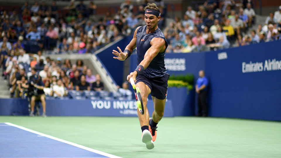 August 27, 2018 - Rafael Nadal in action against David Ferrer during the 2018 US Open.