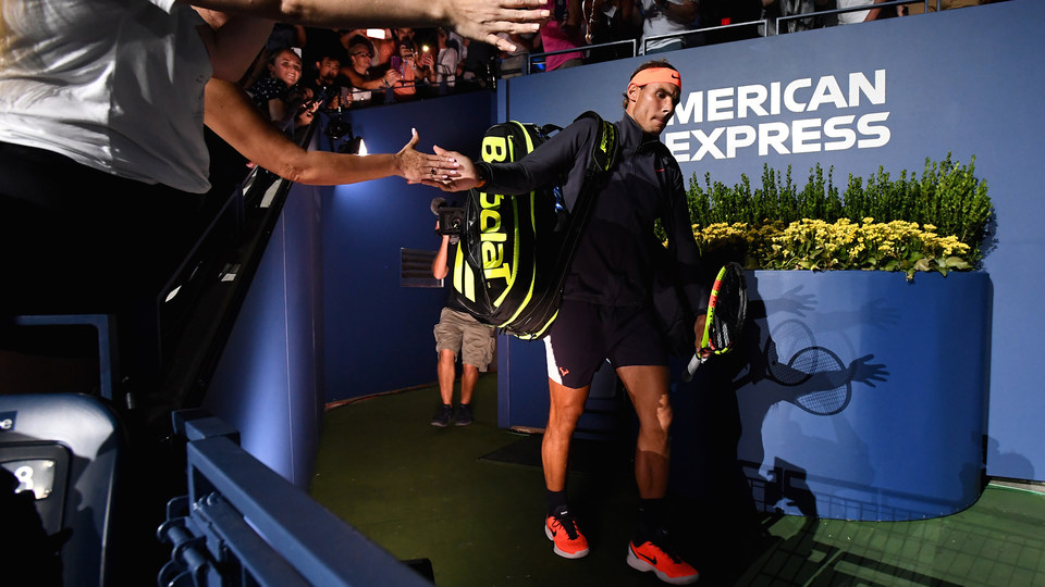 September 4, 2018 - Rafael Nadal enters Arthur Ashe Stadium during the 2018 US Open.