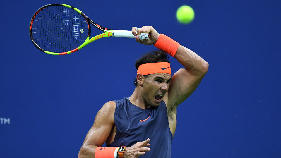September 4, 2018 - Rafael Nadal in action against Dominic Thiem during the 2018 US Open.