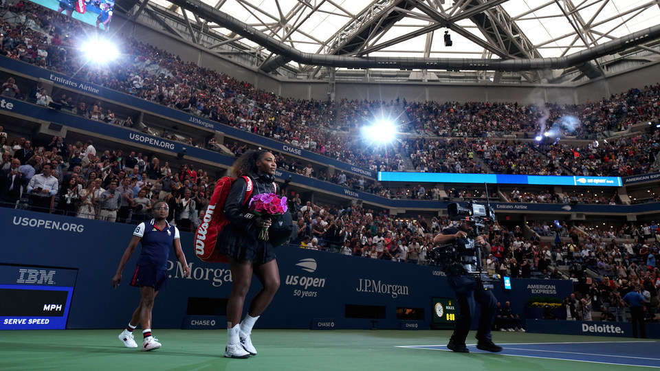 September 8, 2018 - Serena Williams enters Arthur Ashe Stadium for the women's singles final during the 2018 US Open.