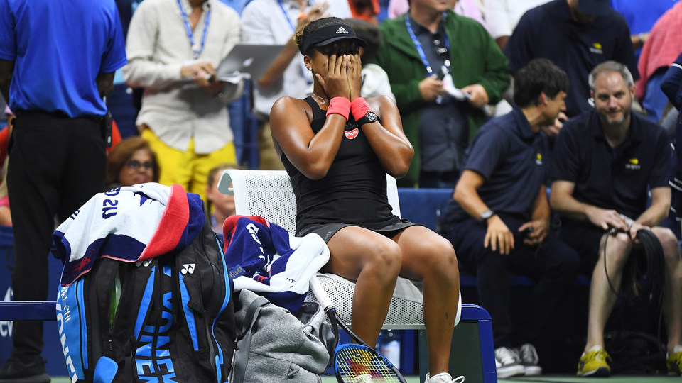 September 8, 2018 - Naomi Osaka reacts to winning against Serena Williams in the women's singles final during the 2018 US Open.